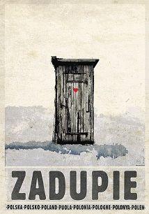 Ryszard Kaja - Zadupie, plakat z serii Polska, Ryszard Kaja