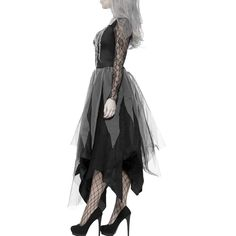 Scorpiuse Halloween Zombie Bride Costume Ghost Corpse Bride Dress for Adult Women: Clothing Baby Halloween Costumes, Halloween Fancy Dress, Adult Halloween, Skeleton Costumes, Halloween Stuff, Vintage Halloween, Halloween Makeup, Corpse Bride Dress, Zombie Bride Costume