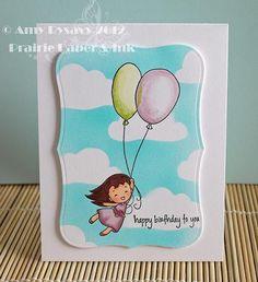 Birthday Card 5 in my Birthday Card Series by AmyR of Prairie Paper & Ink