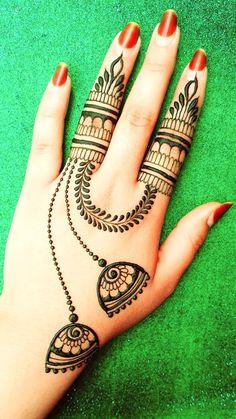 Henna Finger Tattoo, Henna Tattoo Designs Arm, Indian Mehndi Designs, Stylish Mehndi Designs, Modern Mehndi Designs, Mehndi Designs For Girls, Mehndi Designs For Beginners, Wedding Mehndi Designs, Henna Designs Easy