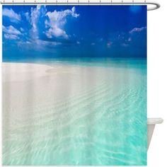 Beach Shore Shower Curtain 145R