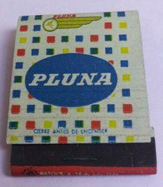 PLUNA Uruguay Airlines vintage matchbook