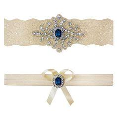 "Ivory Sapphire Blue Pearl Wedding Bridal Garter Set Keepsake Toss (M (18"" - 19"")) Contessa Garters http://www.amazon.com/dp/B00GMZEVGG/ref=cm_sw_r_pi_dp_CowUub1DSQPFK"