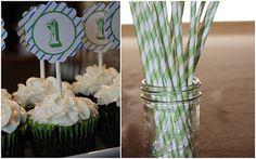 1st birthday cupcake tags