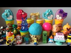 15 Play Doh Toys Review | Animal Toys Review | Puppy and Bunny Toys | Pi...