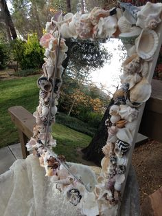 Shell mirror! Large mirror can either way, horizontal or vertical!!Sold