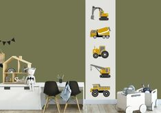 Boys Construction Room, Girls Bedroom, Kids Room, New Homes, Children, Baby, Furniture, Home Decor, Bedroom