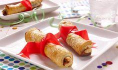 Préparez ces superbes roulés à la pâte feuilletée garnis de chocolat et de noisettes comme dessert pour la remise des diplômes.