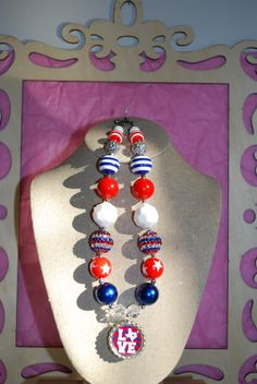 Chunky Bead/Bottle Cap Necklace  Love the Star by beadazzledkiddos, $16.00