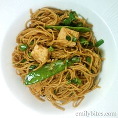 Emily Bites - Weight Watchers Friendly Recipes: Spicy Sesame Noodles with Chicken 6 points plus per serving