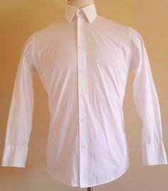 f4b83d105 HUGO Boss WHITE Shirt MEN 39 15 1/2 Cotton SIZE Sz ENZO Edition FIT Man  TURKEY