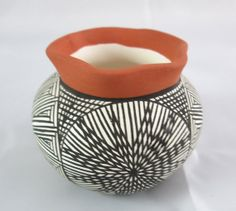 Native American Hand Painted Signed Jo. Acoma New Mexico Small Pottery Jar by GhicChicBoutique, $35.00