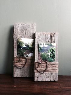 Barn wood picture frames by Sweet Serendipity...Discover Something Happy! Western Picture Frames, Burlap Picture Frames, Reclaimed Wood Picture Frames, Handmade Picture Frames, Picture Frame Crafts, Rustic Frames, Barn Wood Frames, Collage Picture Frames, Pallet Crafts