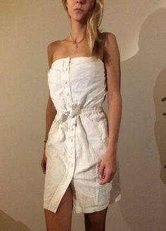 Compra mi artículo en #vinted http://www.vinted.es/ropa-de-mujer/vestidos-sin-tirantes/820771-vestido-blanco-de-encaje-sin-tirantes