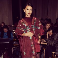 The Celebrity Guide To Wearing The Pantone Color Of The Year #refinery29  http://www.refinery29.com/pantone-2015-marsala-celebrity-style#slide-22  And, as Miroslava Duma proves, it looks incredible with embroidery and fringe.
