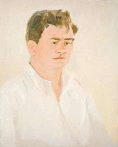Jane Freilicher. Jimmy Schuyler, 1965, oil on canvas, 30 × 24 inches. Courtesy Tibor de Nagy Gallery, New York.