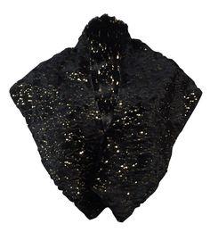 SL Fashions New York Women's Sequined Faux Fur Shawl Wrap