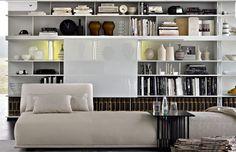 contemporary modular bookcase SEQUENCE by Patricia Urquiola Molteni & C
