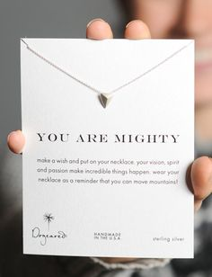 You are mighty. Purchase this necklace & make a difference at Sevenly. ► http://www.sevenly.org/product/52571b348dd8bc780300000f?cid=InflPinterest0005Anna
