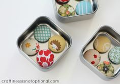 How to make covered buttons & button magnet gift idea