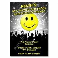 90s Old Skool Invitation