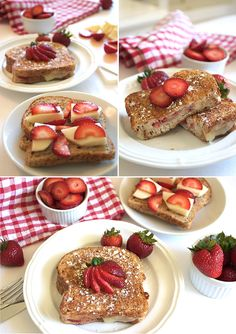 Strawberry Grilled Cheese French Toast. Yum!