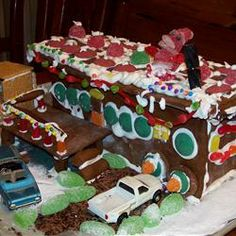 Gingerbread recipe! Think I might need to make a haunted house to celebrate hall-o-ween :)