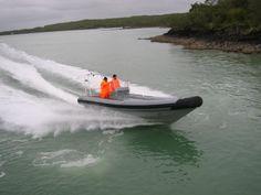 Lancer RD730 rigid inflatable boat undertaking sea trials. www.lancer.co.nz