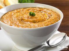 Roasted Garlic & Sweet Potato Soup  http://www.draxe.com #health #holistic #natural
