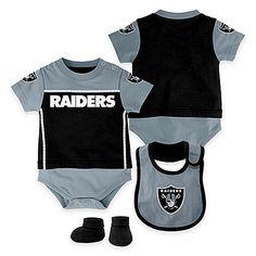 03900bd38cec2f NFL Oakland Raiders 3 Piece Baby Layette Set Raiders Fans