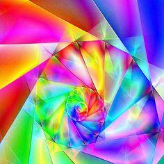 Coloured fractal spiral
