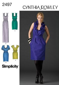 Simplicity Cynthia Rowley 2497 Dress