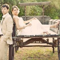 This wedding is so stunning you might not be able to stop staring. It's equal parts rustic vintage and soft romance.