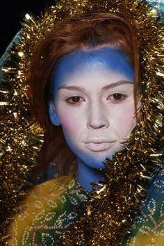 John Galliano Spring 2003 RTW  Makeup by Pat McGrath  Credit: style.com