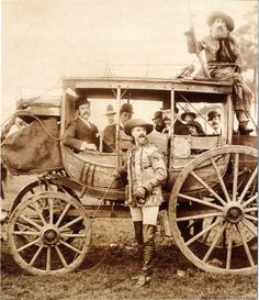 Buffalo Bill and John Y. Nelson with the Deadwood stagecoach