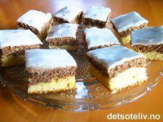 Norwegian Food, Norwegian Recipes, Sheet Pan, No Bake Cake, Vanilla Cake, Tiramisu, Cake Recipes, Cheesecake, Food And Drink