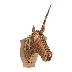 DIY Cardboard Unicorn Bust