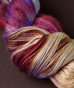 Tricksy Knitter - Silk & Cashmere Knitting Kit - Sunny Cabernet