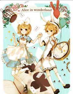Len and Rin in wonderland
