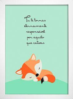 Poster Pequeno Príncipe - Tu te tornas eternamente responsável por aquilo que cativas - loja online