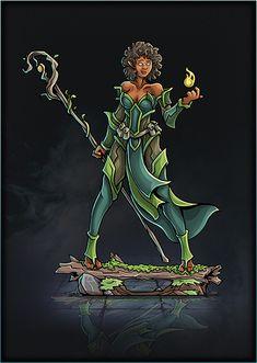 Printable Heroes, Elf Druid, Player's Handbook, Card Templates, Fantasy Art, Concept Art, Jumping Jacks, Minis, Monsters