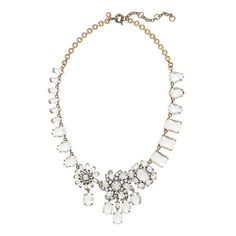 Something sparkling - champagne included - would be such a lovely Mother's Day presentation . . . Crystal collage necklace by J.Crew