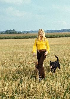 Brigitte Bardot and her dogs,1960s
