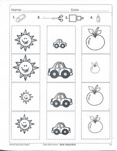 Preschool math, fun math, measurement kindergarten, cut and paste worksheet Measurement Kindergarten, Preschool Math, Fun Math, Math Measurement, Cut And Paste Worksheets, Elementary Education, School Classroom, Educational Technology, Free Graphics
