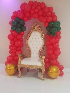 Balloon Arch, Balloons, String Of Pearls, Frame, Furniture, Home Decor, Globes, Picture Frame, Decoration Home