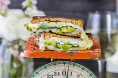 Grilled Mozzarella Boursin Avocado and Basil Sandwich Credit:amanda #Gents.. Remove that #bulge in your #jeans with..http://2dayswork.net/Wallet #Share Grilled Mozzarella Boursin Avocado and Basil Sandwich  FoodPornDaily | Food Porn Food...
