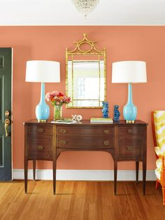 Tropical Colors  - Classic Color Combination: Aqua and Orange  on HGTV
