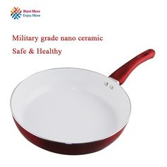 Non Stick Frying Pan Ceramic Coating and Induction Oven Dishwasher Safe 22cm 24