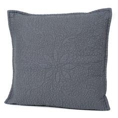 Couvre-lit courtepointe et taie coton matelassé granit Harmony