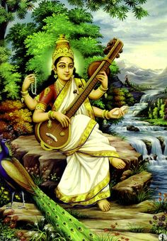 Saraswati is the Hindu goddess of knowledge, music, arts, wisdom ...